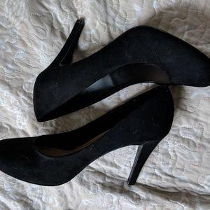 Suede High Heels.